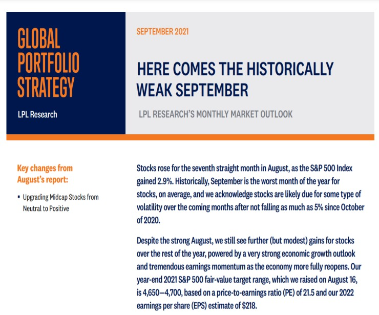Global Portfolio Strategy | September 9, 2021